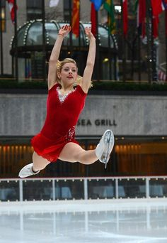 Gold, seen here preparing for the Sochi Olympics, says that her passion for figure skating is important.
