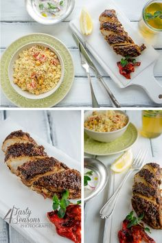 Chicken with harissa and flavoured couscous