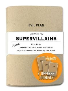 Journals for SUPERVILLAINS by Whiskey River Soap Co.