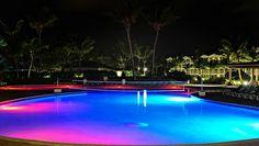 Activity pool at night! #cbaystlucia www.cbayresort.com