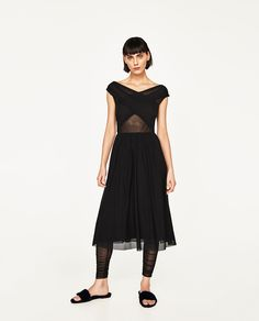 ZARA - WOMAN - DRESS WITH DRAPED TOP