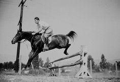 Ronald Reagan on his ranch in Northridge California C. 1943