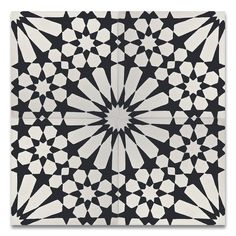 """Found it at AllModern - Agdal 8"""" x 8"""" Cement Tile in Black and White"""