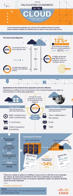 Calculating Economics in the Cloud. Through the cloud, businesses can expect to see application cost savings of 23%.