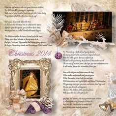 "Kit "" Golden Christmas by Designs by Brigit Photos by Sandra  http://scrapbookbytes.com/store/manufacturers.php?manufacturerid=261"