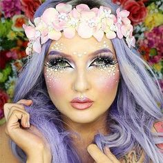amazing makeup - halloween idea for mermaid or fairy