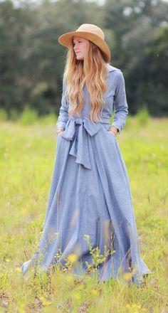 Long sleeve fall maxi dress