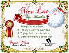I made a Santa Certificate for good children (of course ALL of them are :)…