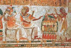 Tomb of Neferrenpet (TT178), late reign of Rameses II: offering scene © OSIRISNET.NET
