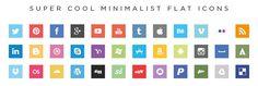 Super cool minimalist flat #icons