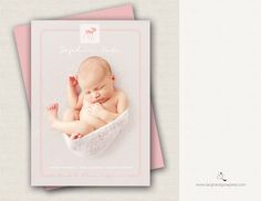 Birth Announcement Templates - Simply Announcing Template Collection, Laugh & Grow Press - featuring Little Pieces Photography by Kelly Brown  www.laughandgrowpress.com