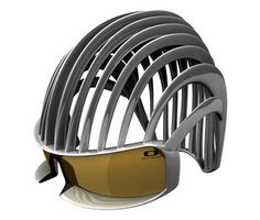 Be a mighty cyclist feared by other drivers in this bike helmet modeled after a Roman gladiator's helmet