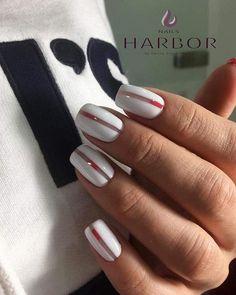 48 Stylish Acrylic White Nail Art Designs and Ideas Nail Manicure, Gel Nails, Nail Polish, White Nail Art, White Nails, Business Nails, Almond Shape Nails, Pretty Hands, Minimalist Nails