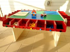 Lego table, Kids Play table, Lots of Storage, Boys toy, Legos, Activity Table, Playtime. $295.00, via Etsy.