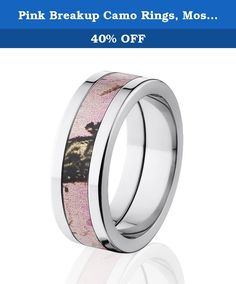 Pink Breakup Camo Rings, Mossy Oak Camo Rings, Camouflage Wedding Band. Check out these 8 mm Pink Breakup Camo Rings & Bands with a deluxe comfort fit. Certain ring sizes are limited so be sure to get yours today. This Pink Camo wedding ring is available in different millimeter widths as well. Don't forget our Internet Five Star Warranty.