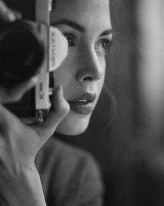 """""My Version of a Selfie: 3 Quarters Pentax Profile."" West Village, NYC. October 2015. Taken with Kodak 400 TMAX black and white film.  #pentaxk1000…"""