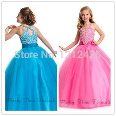 Online Shop 2014 NEW BUBBLE GUM PINK FAIRY TALE SOFT TULLE BEADED HALTER TOP LITTLE GIRL PAGEANT GOWN FLOWER GIRL DRESS PRINCESS BALL GOWN |Aliexpress Mobile