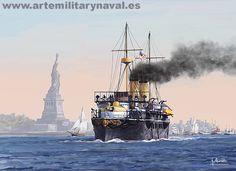 Crucero Vizcaya saliendo de Nueva York
