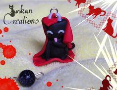 Niedliches schwarzes Katzensternzeichen: Stier von JuskanCreations