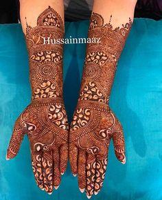 Bridal Henna Designs, Unique Mehndi Designs, Dulhan Mehndi Designs, Beautiful Henna Designs, Beautiful Mehndi, Latest Mehndi Designs, Unique Henna, Mehndi Tattoo, Henna Tattoo Designs