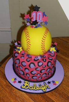 Softball Birthday cake                                                                                                                                                      More
