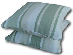 Piped Cushion Cover in Laura Ashley Awning Stripe Hedgerow Green Throw Pillows Green Throw Pillows, Green Cushions, Striped Cushions, Cushion Covers Uk, Laura Ashley, Stars, Check, Ebay, Star