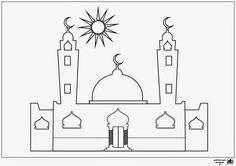 مشروع عصفور التعليمي: ورقة تلوين: مسجد
