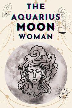 The Aquarius Moon Woman is Eccentric & Interesting | Basically Wonderful Moon In Aquarius Woman, Aquarius Horoscope, Birth Chart, Eccentric, Magick, Astrology, Zodiac, Women, Witchcraft