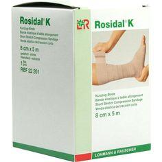 ROSIDAL K Binde 8 cmx5 m:   Packungsinhalt: 1 St Binden PZN: 00885978 Hersteller: Lohmann & Rauscher GmbH & Co.KG Preis: 9,15 EUR inkl.…