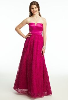 Satin and Soutache Ballgown Prom Dress from Camille La Vie and Group USA