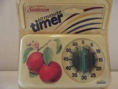 Vintage Sunbeam Kitchen Timer Fruit Motif In Original Package 50s Kitchen, Vintage Kitchen, Kitchen Timers, Awesome Kitchen, Cooking Timer, Cool Kitchens, Packaging, Fruit, The Originals