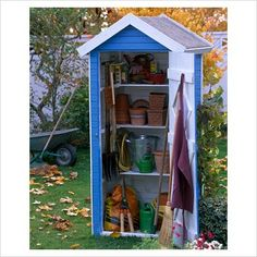 very organised shed I need this to have my own spot for my garden stuff