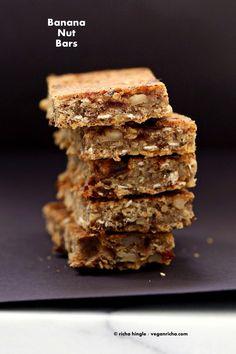 Banana Nut Snack Bars. Vegan Glutenfree Recipe | Vegan Richa