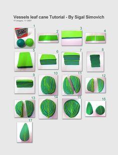 """Vessels leaf"" cane - Tutorial | polymer clay - חי… | Flickr - Photo Sharing!"