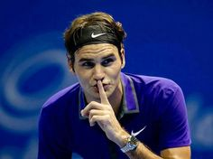 Roger Federer acts as...