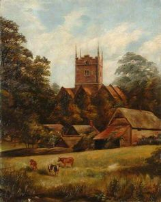 St Mary's Church, Basing. St Mary's Church, Basing by unknown artist Hampshire County Council Arts and Museums Service      Date painted: 1892     Oil on canvas, 52 x 41 cm     Collection: Hampshire County Council Arts and Museums Service BBC Your Paintings.