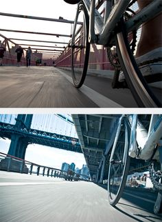 NYC by Bike: Photo Series by Tom Olesnevich | Inspiration Grid | Design Inspiration