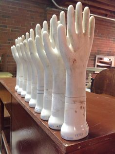 Ceramic Glove Mold - In Stock $28/Each