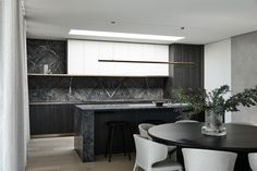 Proud and Refined – Brighton 7 by InForm – Project Feature – The Local Project Amazing Architecture, Interior Architecture, Timber Garage Door, Latest Kitchen Designs, Timber Flooring, Entry Hall, Open Plan Kitchen, House And Home Magazine, House Goals