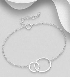 Interlocking Circle Bracelet for Women, Infinity Bracelet Sterling Silver, Dainty Linked Double Circle, Infinity Bridesmaid Jewelry Gift Interlocking Circle Necklace, Single Pearl Necklace, Bridesmaid Jewelry, Bridesmaid Ideas, Wedding Bridesmaids, Infinity Necklace, Affordable Jewelry, Sterling Silver Earrings Studs, Beautiful Necklaces