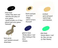 tag yourself im black bean and black eyed pea