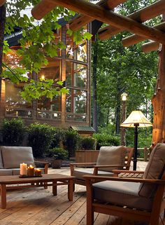 backyard Gorgeous Outdoor Living on the Patio heated outdoor space. Outdoor Areas, Outdoor Rooms, Outdoor Living, Outdoor Furniture Sets, Indoor Outdoor, Wicker Furniture, Outdoor Benches, Garden Benches, Living Furniture