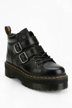 Dr. Martens Bryony Buckled Flatform Boot - Urban Outfitters