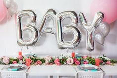 Dining Tablescape from a Floral Chic Sugar + Spice Baby Shower via Kara's Party Ideas | KarasPartyIdeas.com (21)