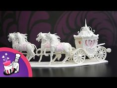 Tutorial: How To Make A Sugar Horse And Carriage Centerpiece - YouTube