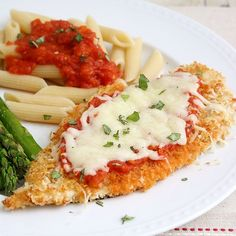 a light version of chicken parmesan