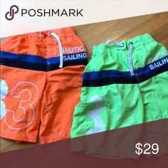 606b674a10 Shop Kids' Nautica size LB Swim Trunks at a discounted price at Poshmark.  Description: Set of 2 Neon Colored Swimming Shorts. Rye in front can be  used to ...