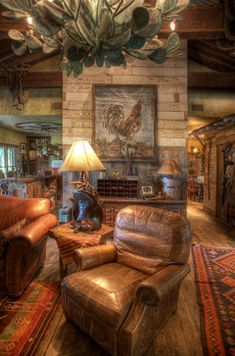 South Texas Ranch Rustic Family Room Other Metro Maison Et Jardin Llc