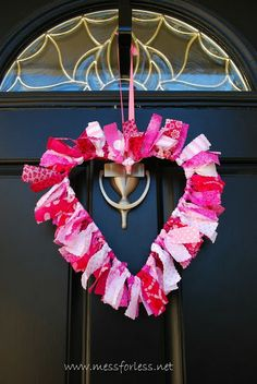 Valentine Decoration: Fabric Wreath, 2014 Valentine's Day Ribbon