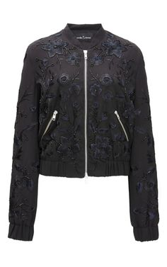 Blossom Embroidery Bomber Jacket by NEEDLE & THREAD